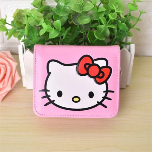 Cute KITTY Women PU Leather Wallet Girl Cartoon Purse Gift
