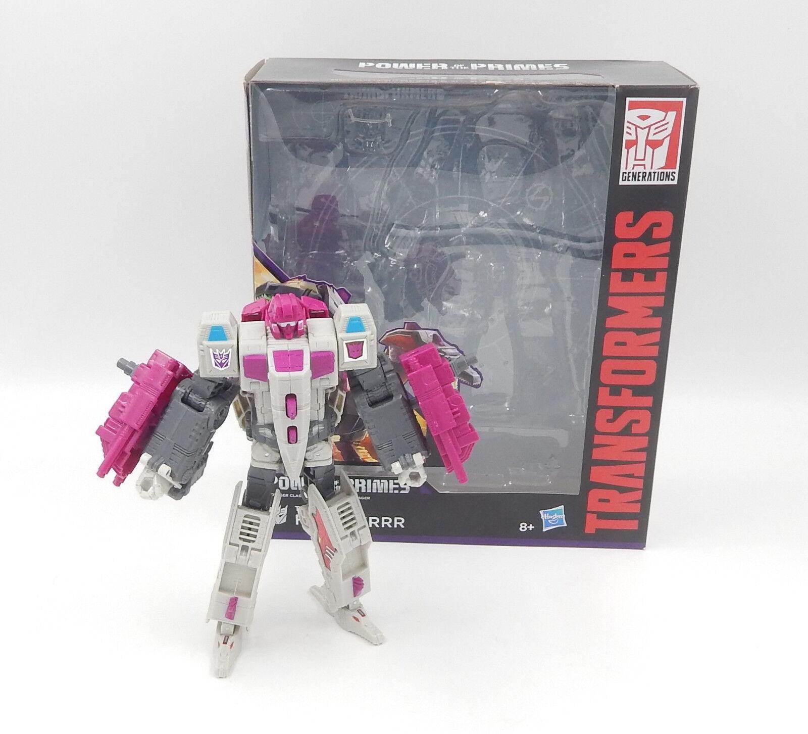 HASBRO TRANSFORMERS Power of the primes VOYAGER Terrorcon Hun-gurrr Action Personaggio