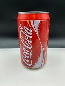 Coca-Cola-Sheet-Metal-Can-Piggy-Bank-7-7-8in-Top-Condition