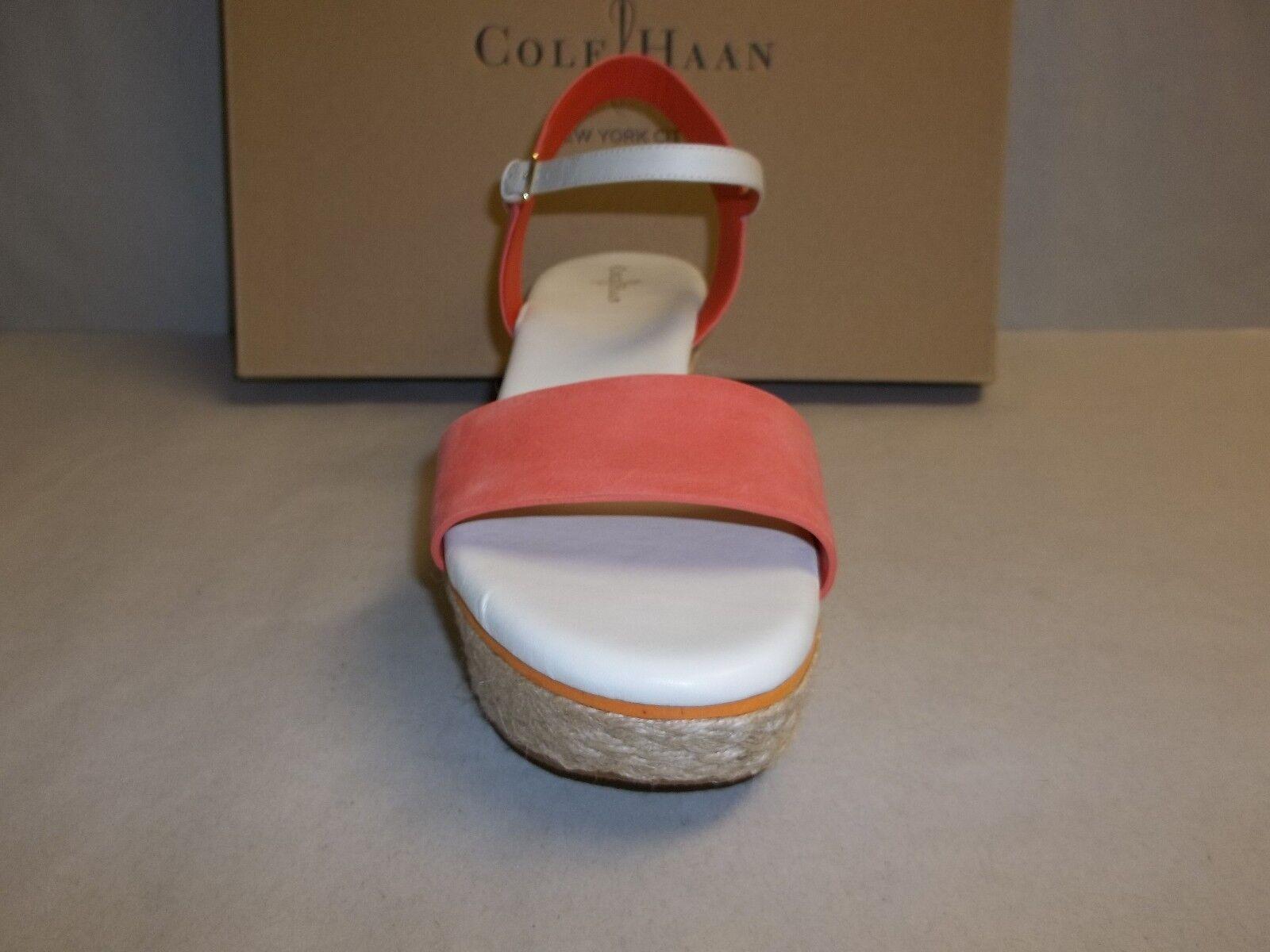 Cole Haan Size 10 M ARDEN WEDGE Orange Pop Pelle Sandals Sandals Pelle New Donna Shoes 3297d6