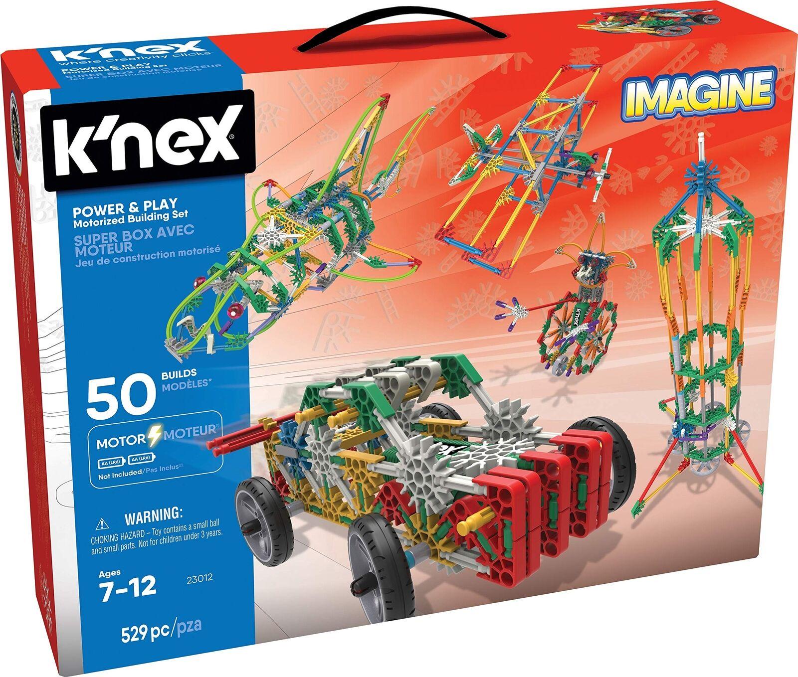 K'NEX Imagine – Power and Play Motorized Building Set – 529 Pieces –
