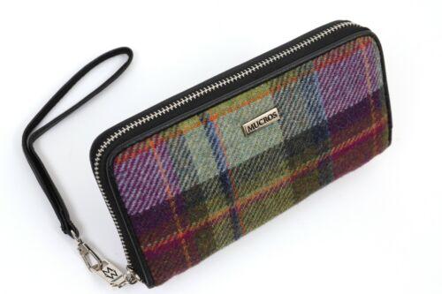 "Womens Wallet Tweed /& Black Leather Long-Lasting 4/"" x 8/"" Designed in Ireland"