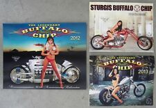 2014, 2013 & 2012 Collector's Sturgis Buffalo Chip Motorcycle Wall Calendar