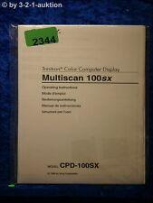 Sony Bedienungsanleitung CPD 100SX Multiscan 100sx Computer Display (#2344)