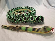 "Wild Republic Anaconda Tree Snake Jungle Plush Soft Toy Stuffed Animal 64"""