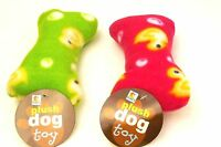 Plush Dog Toy With Squeaker Bone Shape With Duckie Theme