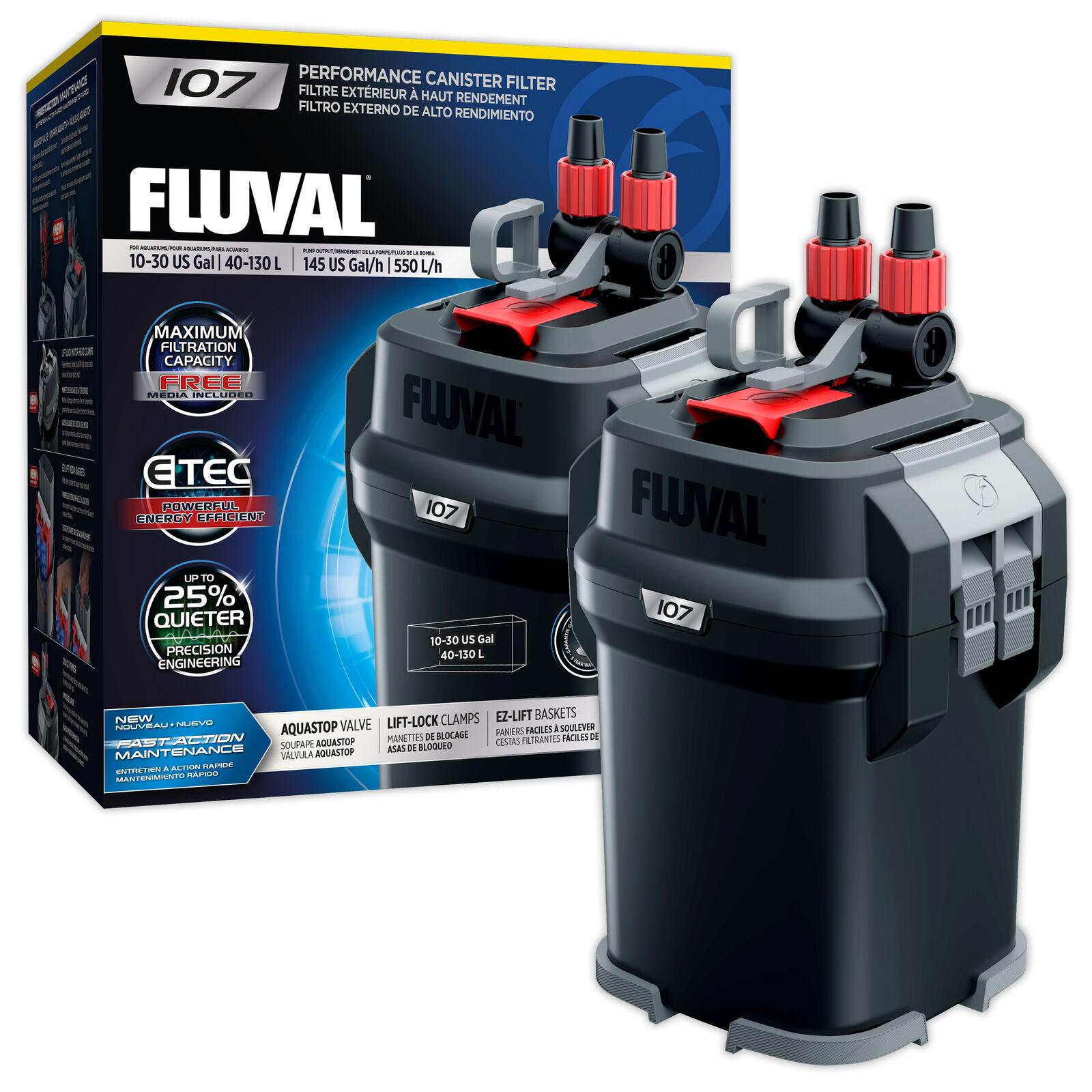 FLUVAL 107 Filtro di alimentazione esterna comprende media Acquario Vasca dei Pesci sostituisce 106