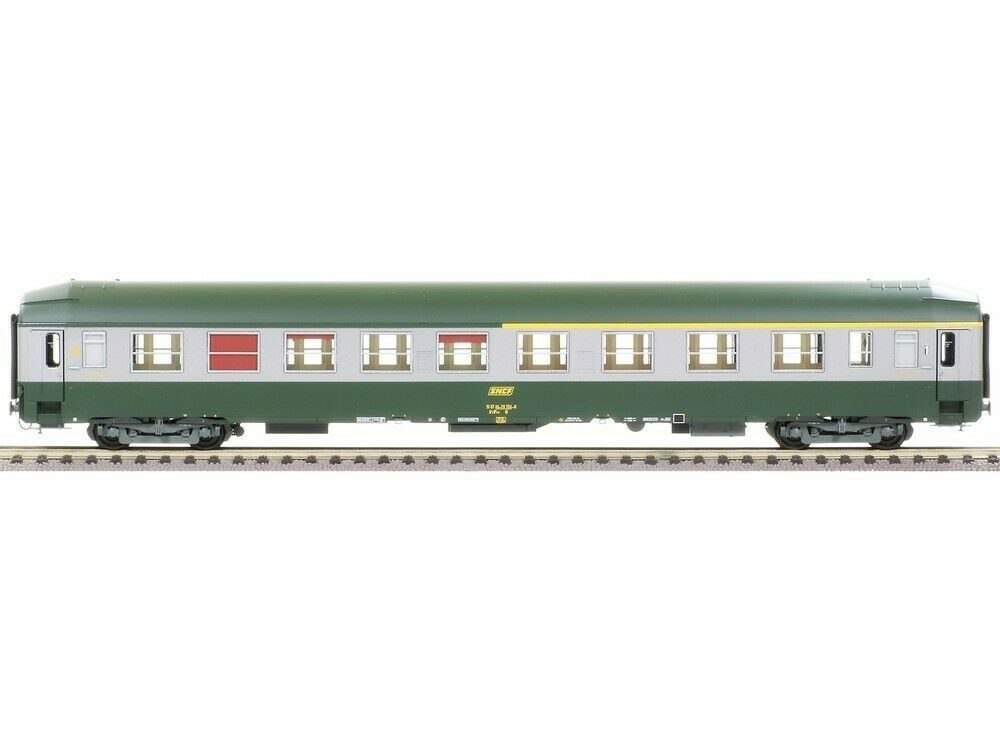 Ree Modeles vb-188 bunks SNCF UIC-Y a4c4b5c5 Green Livery 302 Stainless, Logo SNCF