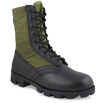 US Army Panama Lightweight Jungle Vietnam Military Assault Combat Boots Green
