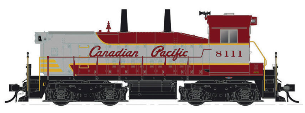 RAPIDO 1/87 HO CP CANADIAN PACIFIC SW1200 RS RD.  8111 DCC & SOUND 26508 F/S