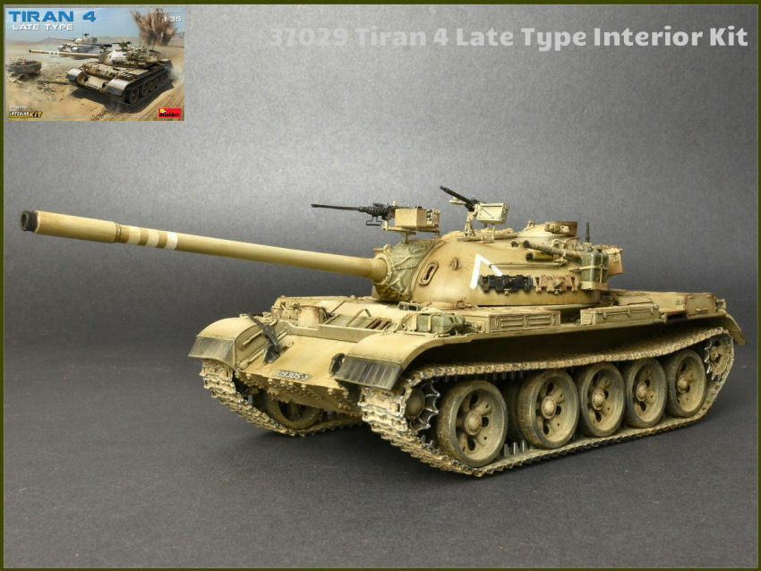 Tiran 4 Late Type Interior Tank Plastic Kit 1 35 Model MINIART