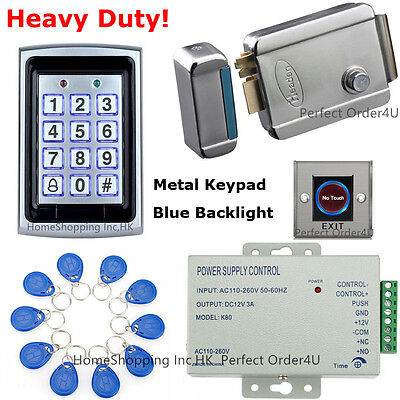 Metal RFID Card and Password Door Access Control System+Electric Rim Lock BEST