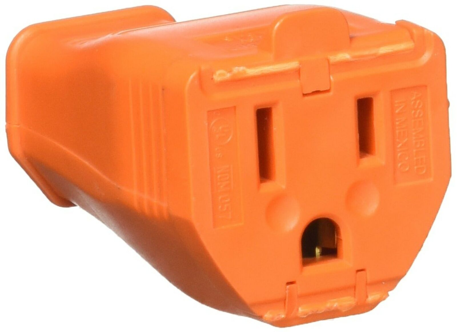 Leviton 003-3w102-0or 2 Pole 3 Wire Orange Grounding Cord Out,No 003-3W102-0OR