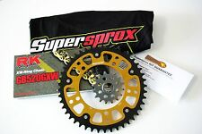 Supersprox Stealth 520 Chain and Sprocket Set for Yamaha YZF R1 (2004-2008) +2