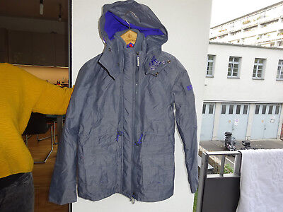 Neu G50lz014 Damen Jacke Gr Luxus m Superdry Blau Anthrazit