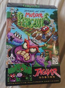Atari Jaguar Attack Of The Mutant Penguins Boxed Game Cartridge Complete