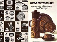 DENBY ARABESQUE Stoneware Pottery PICK & MIX VINTAGE