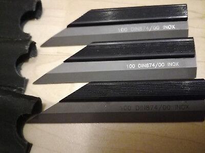 100% QualitäT Haarlineal 100 Din 874/00 Inox Mit Etui Aus Betriebsauflösung Ruf Zuerst