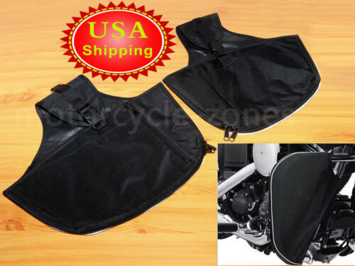 USA 1 Pair Soft Lowers Chaps Leg Warmer Bag For Harley Touring Street Road Glide