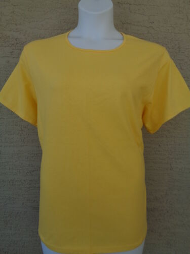 NEW  HANES SILVER FOR HER 2X S//S CREW NECK  COTTON BLEND TEE TOP 2X Yellow