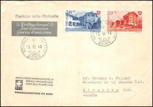 FDC-Suisse-Lettre-a-destination-du-Canada-15-6-1948