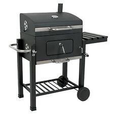 "Holzkohle Grillwagen ""Black Oak"" BBQ Smoker Barbecue Grill"