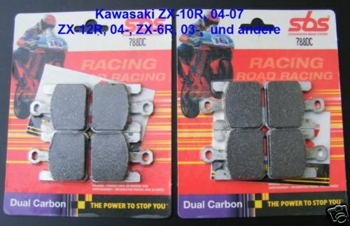 plaquette de frein kawasaki zx-6r 03-06 zx-10r 04-07 2x SBS 788 DC sbs788dc