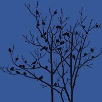 Birds In Trees Craft Stencil- Size Small- By Cutting Edge Stencils