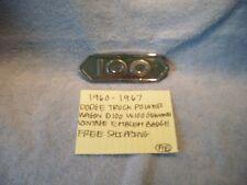 1960-1967 DODGE TRUCK POWER WAGON D100 W100 GENUINE EMBLEM BADGE FREE SHIPPING
