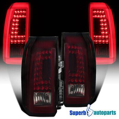 2015-2018 Chevy Tahoe Suburban Rear Brake LED Tail Lights Lamps Red//Smoke Pair