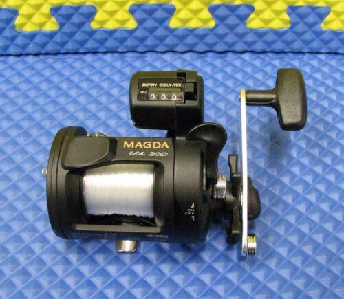 Okuma Magda Line Counter Trolling Reel PRE-SPOOLED 15lb//240yd Mono MA 20D 4 Pack