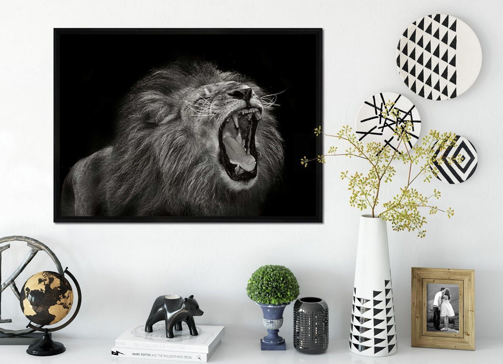 3D Big Mouth Lion 60 Framed Poster Home Decor Print Painting Art AJ WALLPAPER