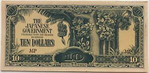 JAPON-10-DOLLARS-1940-Billet-de-banque-SUP