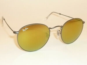 New RAY BAN Sunglasses ROUND METAL Matte Gunmetal RB 3447 029 93 ... 3d5594fed1138