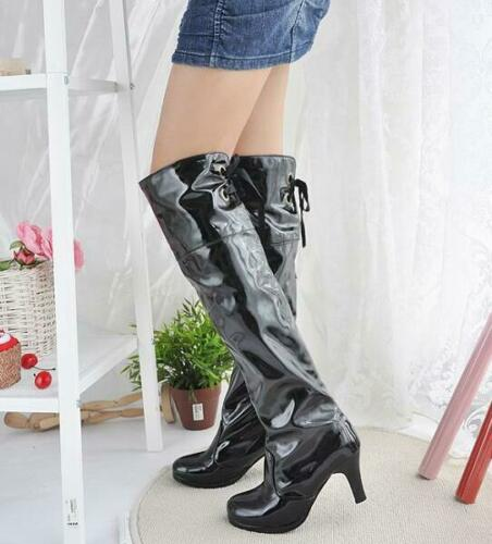 Womens Boots All Size Fashion New High Block Heel Knee-High Boots Style Fashion