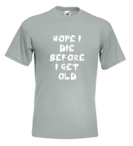 The Who T Shirt My Generation Hope I Die Before I Get Old Pete Townshend MOD