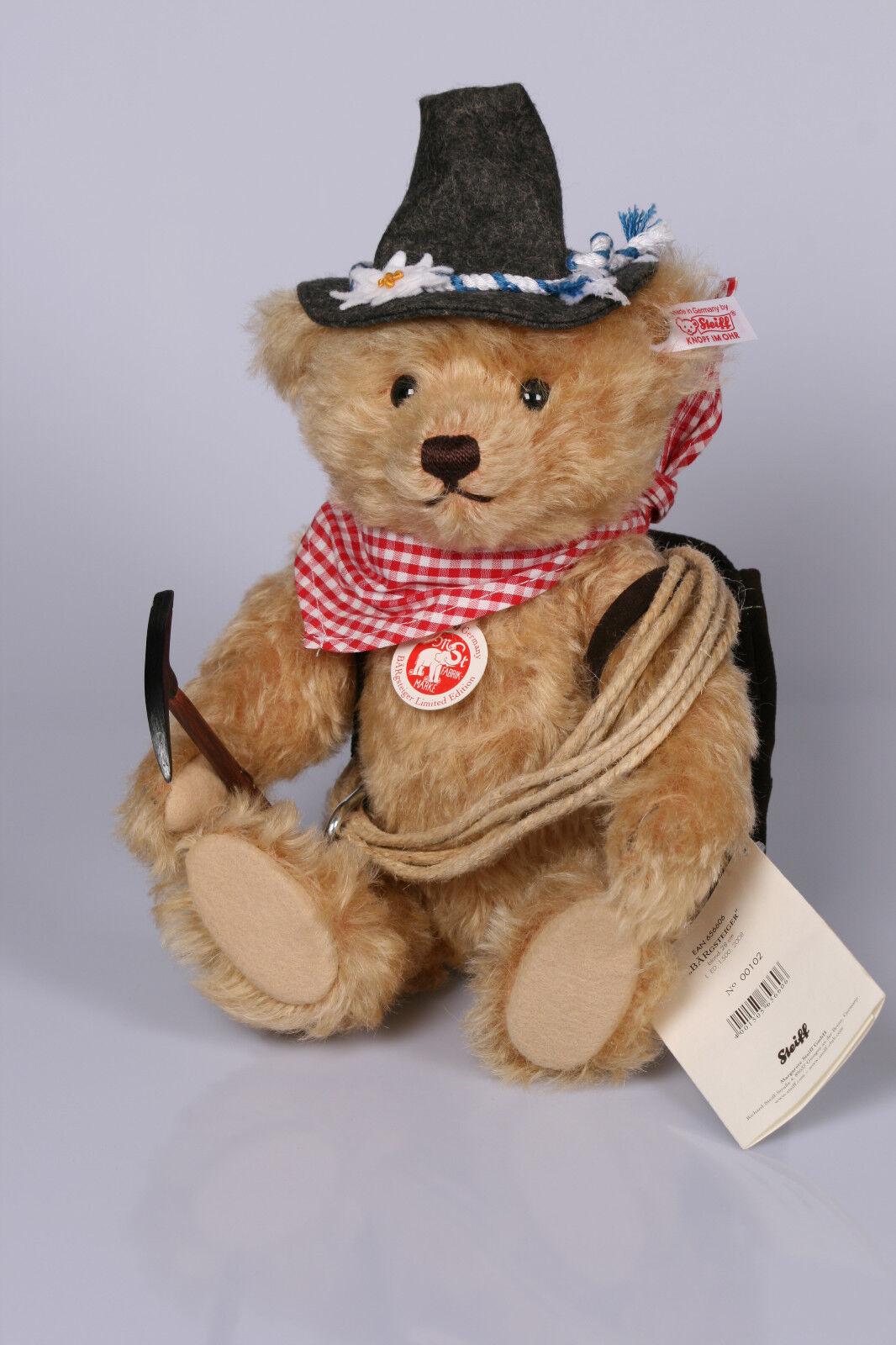 STEIFF BÄRGsteiger Teddy, Teddybär, für Sammler, blond, limitiert, NEU