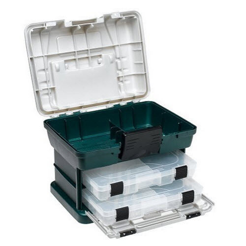 Plano 1362 2-By Rack System 3650 Size Tackle Box  Bait Fishing Storage System