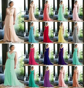 New-Long-Chiffon-V-neck-Formal-Bridesmaid-Party-Ball-Gown-Evening-Dress-Size6-24