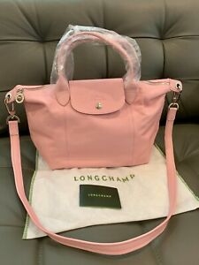 LONGCHAMP-Le-Pliage-Cuir-Small-Leather-Top-Handle-Tote-Girls-Light-Pink-NWT