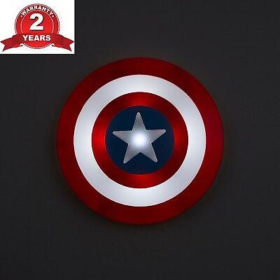 Responsabile 3d Capitan America Multicolore Muro Luce Portatile Led Luce Notturna Parete-mostra Il Titolo Originale