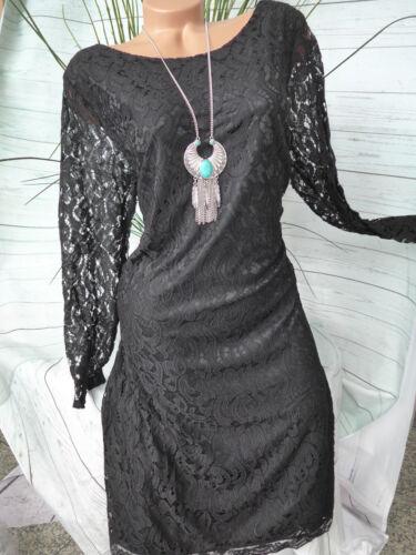46 hasta 58 negro nuevo 265 Sheego vestido puntas Vestido gr