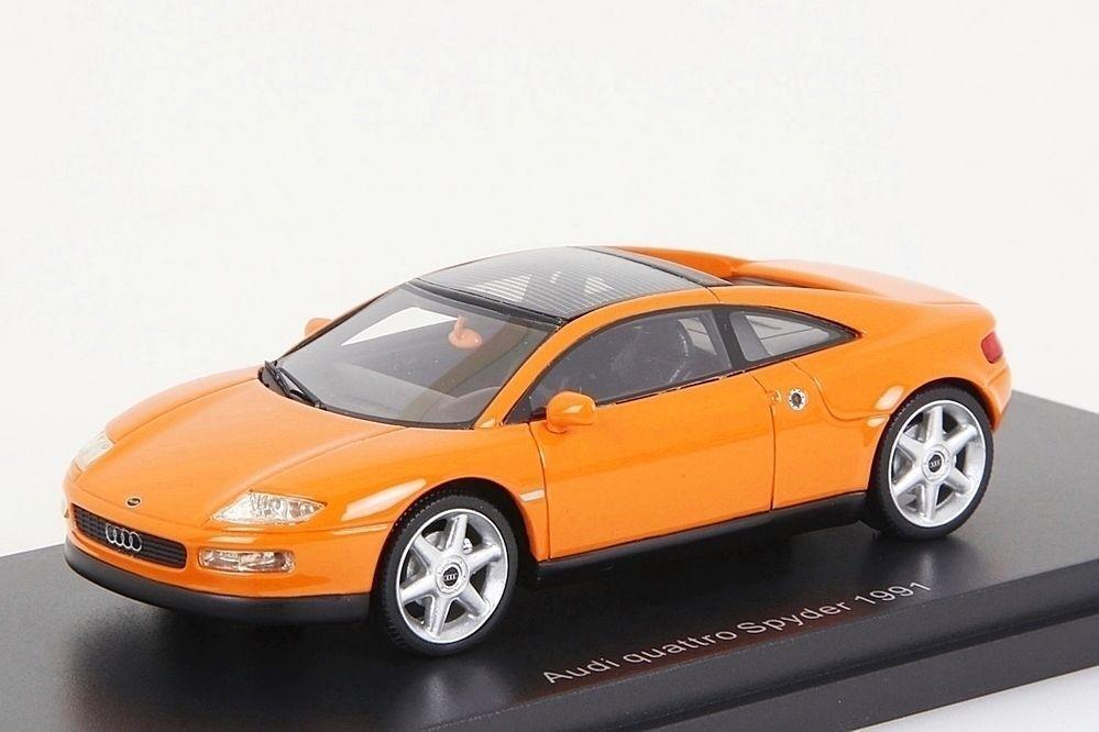 Audi quattro Spyder 1991 naranja bos-models 1 43 nuevo en el embalaje original