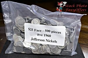 Lot Of 25 Circulated Jefferson Nickels Random Wartime Years