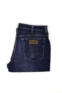 30598 Wrangler Texas Extensible Bleu Hommes Jean En Taille 36/32