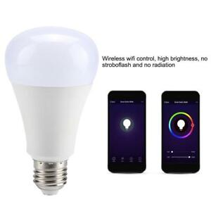 Details About E27 18w Ac85 265v Rgb W Wifi Bright Led Light Lamp Bulb For Home Room Lighting