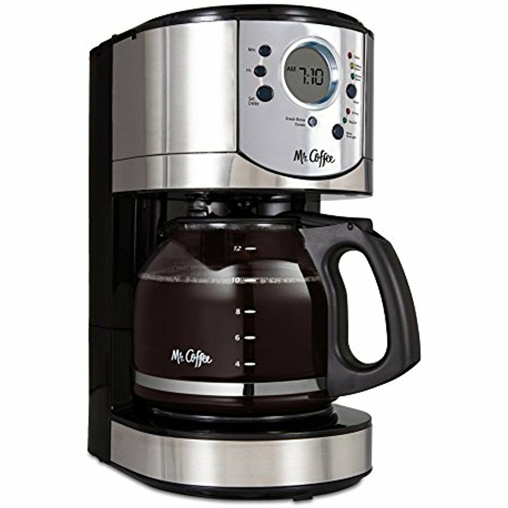 Mr. Coffee 12-Cup Programmable Maker With Brew Strength Selector