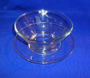 Vintage-Etched-Wheat-Crystal-Bowl-and-Plate-Set