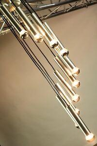 Kaskaden-Pendel-Leuchte-10flammige-XL-Haenge-Lampe-Vintage-60er-70er-Jahre