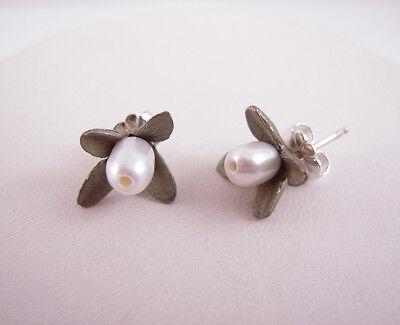 Michael Michaud Silver Seasons Boxwood Post Earrings